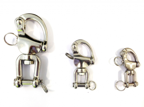 Stainless Steel Swivel Snap Shackle with Fork/Jaw